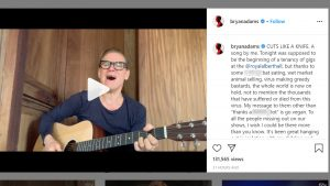Rocker Bryan Adams issues apology after controversial COVID-19 post