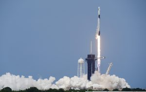 SpaceX rocket ship lifts off with two Americans
