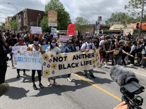 Protesters rally in Toronto against anti-black, Indigenous racism